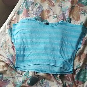 Crop top (blue and pink)